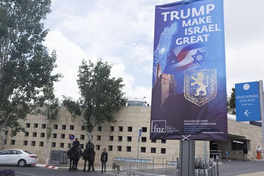 Mỹ khai trương Đại sứ quán ở Jerusalem vào 16h ngày 14.5 (giờ địa phương). Ảnh: Getty.