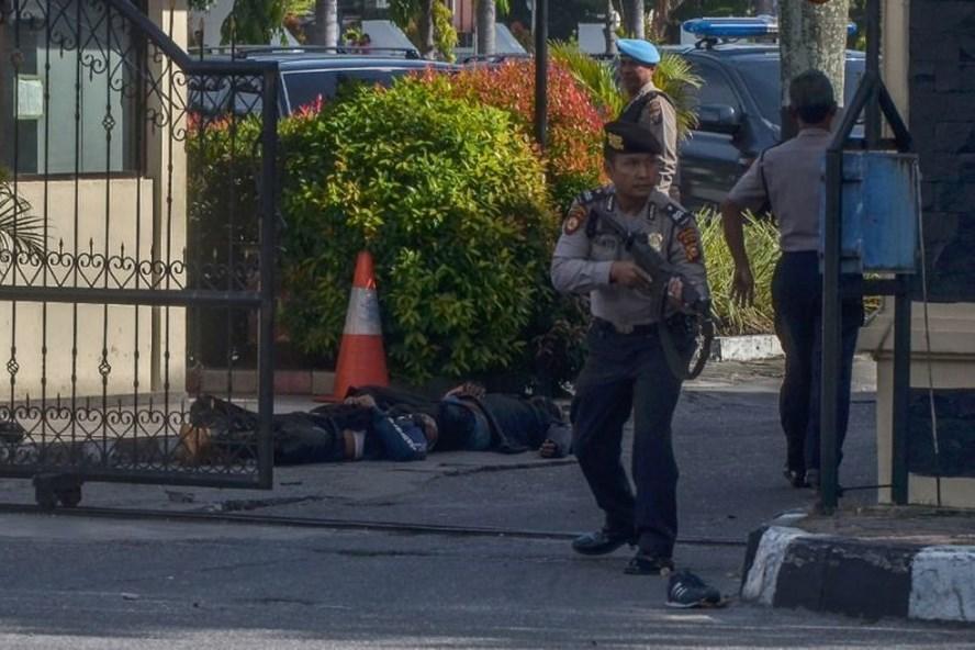 Chính phủ  Indonesia đã nâng mức báo động khủng bố lên mức cao nhất sau loạt vụ tấn công gần đây. Ảnh: AFP.