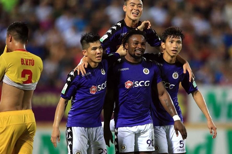 Hà Nội đang cho thấy phong độ ấn tượng cũng như đẳng cấp của một đội bóng lớn tại V.League mùa này. Ảnh: VPF