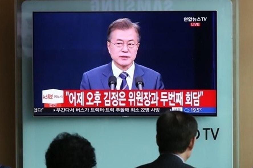 Tổng thống Hàn Quốc thông báo kết quả thượng đỉnh liên Triều lần 2. Ảnh: Yonhap.