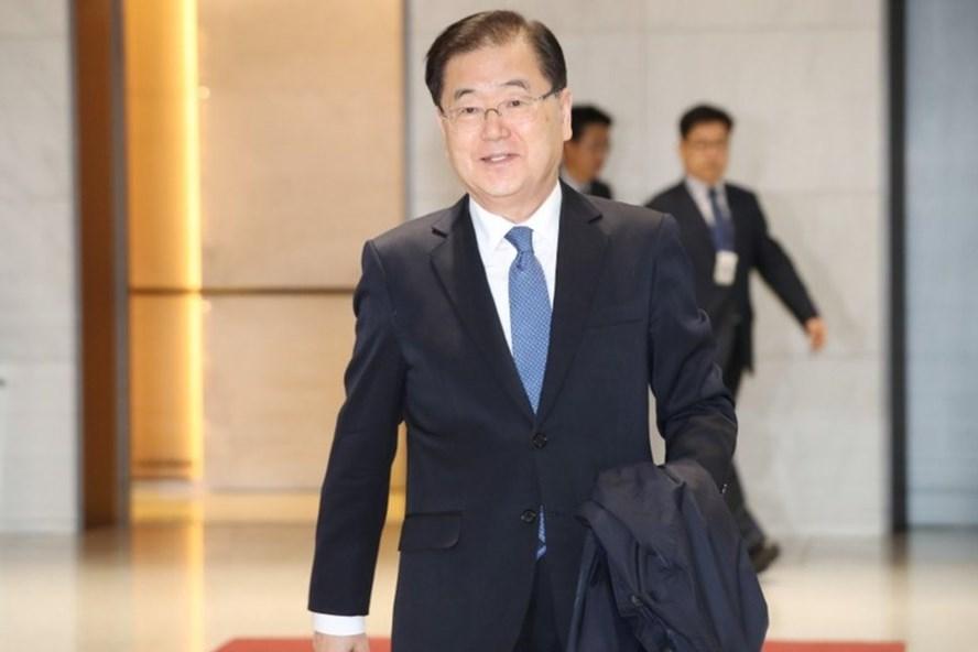 Ông Chung Eui-yong - người đứng đầu Văn phòng an ninh quốc gia phủ Tổng thống Hàn Quốc. Ảnh: Reuters.