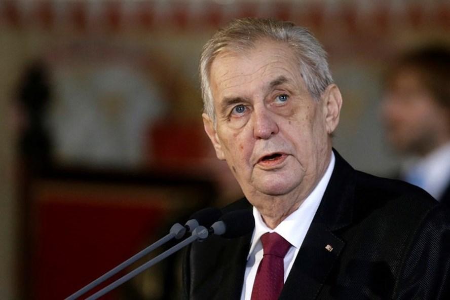 Tổng thống Czech Milos Zeman. Ảnh: RT