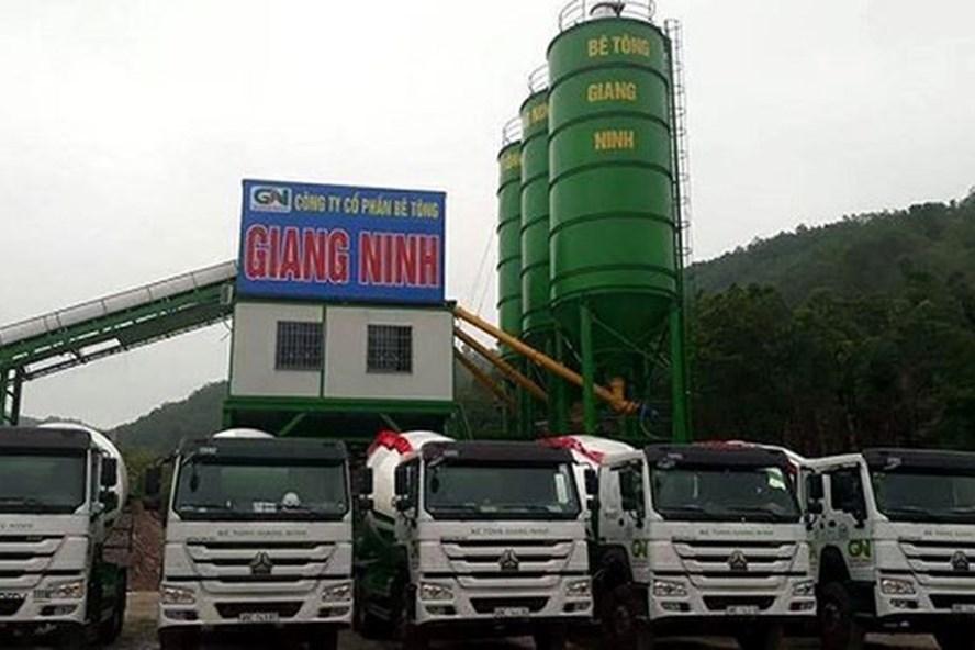Công ty Cổ phần bê tông Giang Ninh, nơi xảy ra vụ nổ súng.