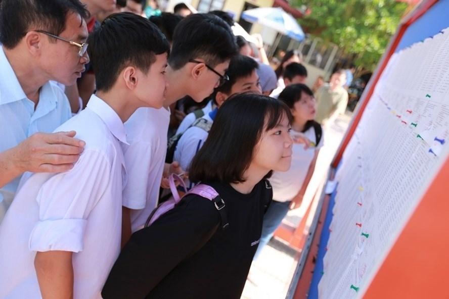 Ngày 23.6, Sở GD ĐT Hà Nội sẽ công bố điểm thi và điểm chuẩn vào lớp 10. Ảnh: Hải Nguyễn