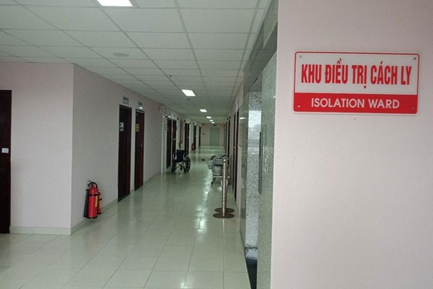 Khu điều trị cách ly của Bệnh viện Đa khoa TP.Cần Thơ - nơi bệnh nhân T và 3 nhân viên y tế đang được điều trị cúm A/H1N1. Ảnh: P.V