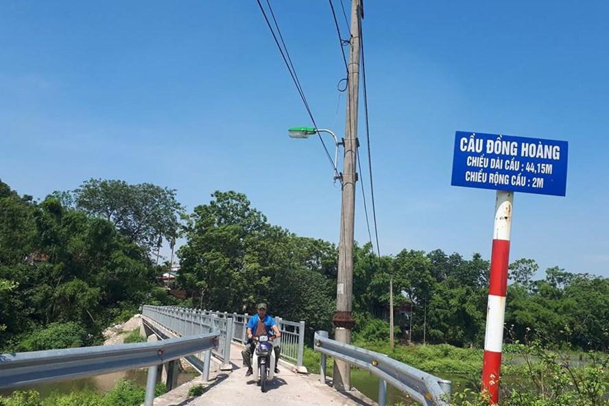 Cầu Đồng Hoàng (phường Đồng Mai, quận Hà Đông).
