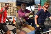 Ấn tượng World Cup 2018: Ôm chó cưng đi máy kéo đến Nga xem bóng đá