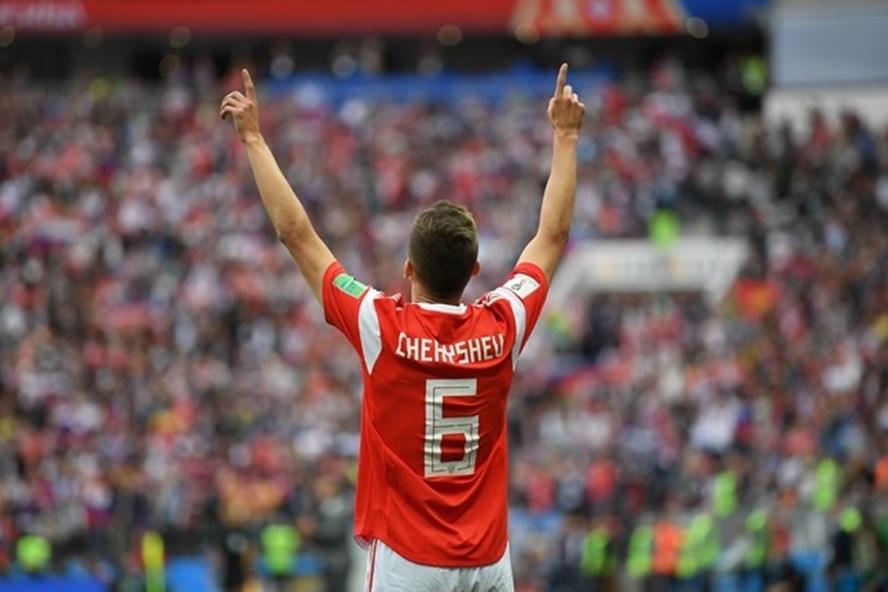 Denis Cheryshe vào sân và tỏa sáng giúp ĐT Nga thăng hoa. Ảnh: FIFA