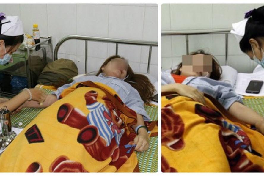 Giáo viên mầm non đang điều trị tại bệnh viện (Ảnh:Wentretho)