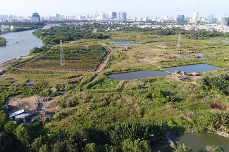 Khu đất rộng hơn 30ha tại xã Phước Kiển, H.Nhà Bè bán không qua đấu giá với giá 1,29 triệu đồng/m2 cho Công ty CP Quốc Cường Gia Lai