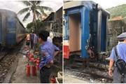 Nguyên nhân khiến đoàn tàu ở Phú Yên bốc cháy, hành khách tán loạn