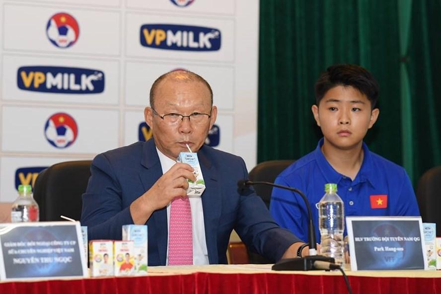 HLV Park Hang-seo khiêm tốn đặt mục tiêu cho ĐT Olympic Việt Nam. Ảnh: M.T