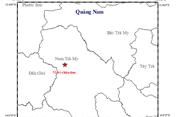 Lại xảy ra động đất ở huyện Nam Trà My, Quảng Nam