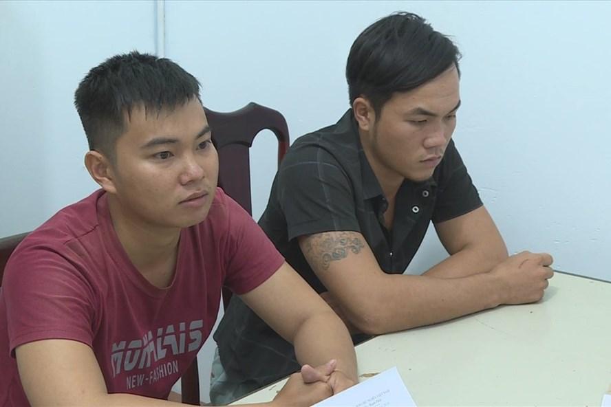 Hai đối tượng buôn người bị công an bắt giữ.