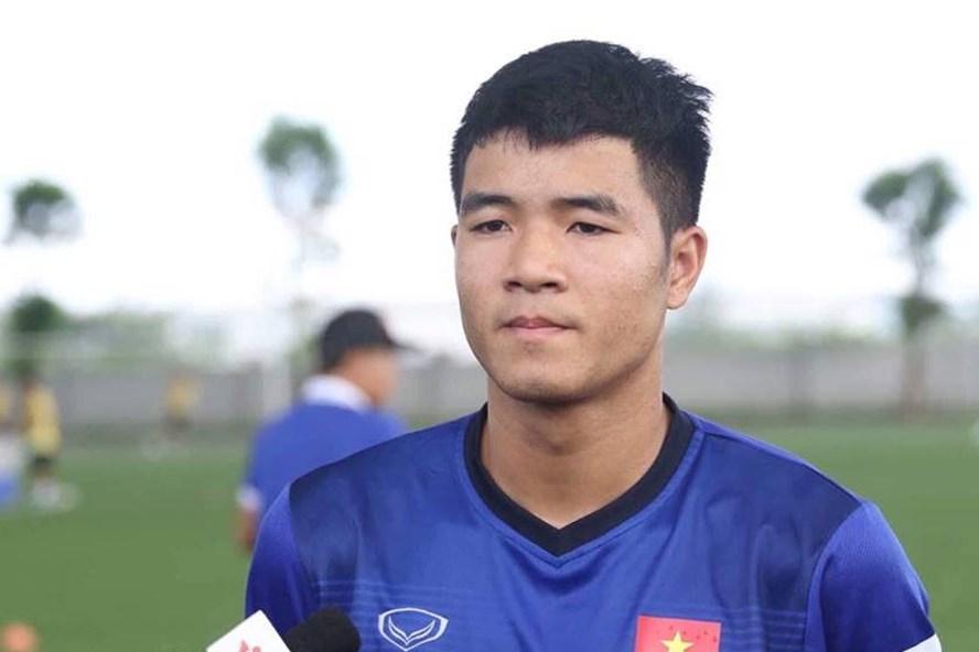Hà Đức Chinh là 1 trong 5 tiền đạo của U23 VN. Ảnh: Thế Sơn