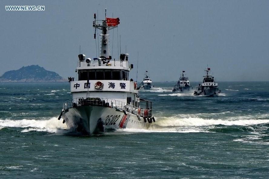 Kể từ ngày 1.7, lực lượng tuần duyên Trung Quốc đặt dưới quyền lãnh đạo Quân ủy Trung ương Trung Quốc. Ảnh: Tân Hoa xã