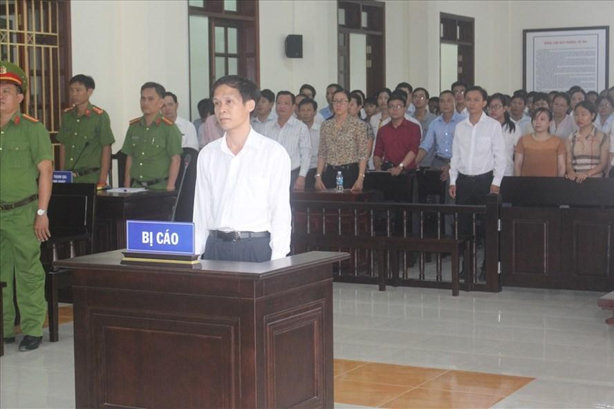 Bị cáo Kiển tại phiên tòa.