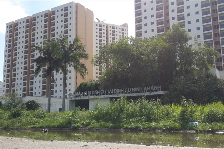 Khu nhà tái định cư Thủ Thiêm - nơi các hộ dân được chính quyền đưa về ở thay cho khu nhà tạm cư. Ảnh: Ngọc Tiến