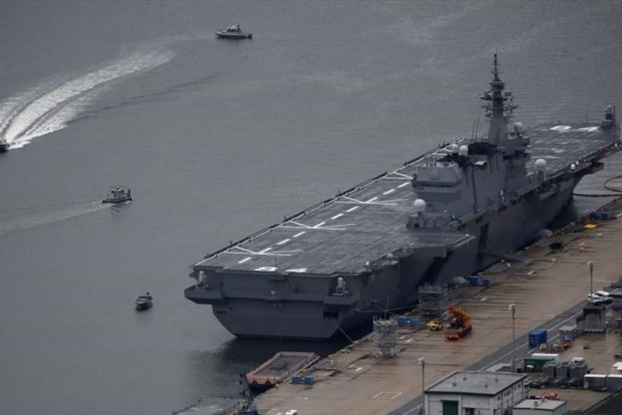 Tàu chở trực thăng Kaga của Nhật Bản. Ảnh: Reuters