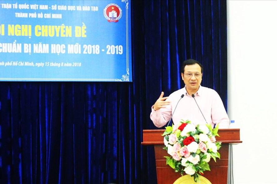 Ông Lê Hoài Nam – Phó Giám đốc Sở GDĐT TPHCM phát biểu tại hội nghị