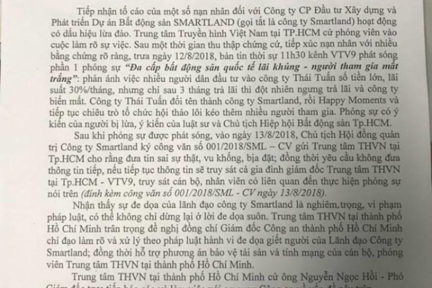 """Văn bản của VTV9 """"kêu cứu"""""""