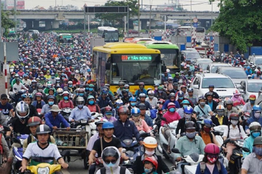 Kẹt xe ở TPHCM ngày càng nghiêm trọng. Ảnh: MINH QUÂN