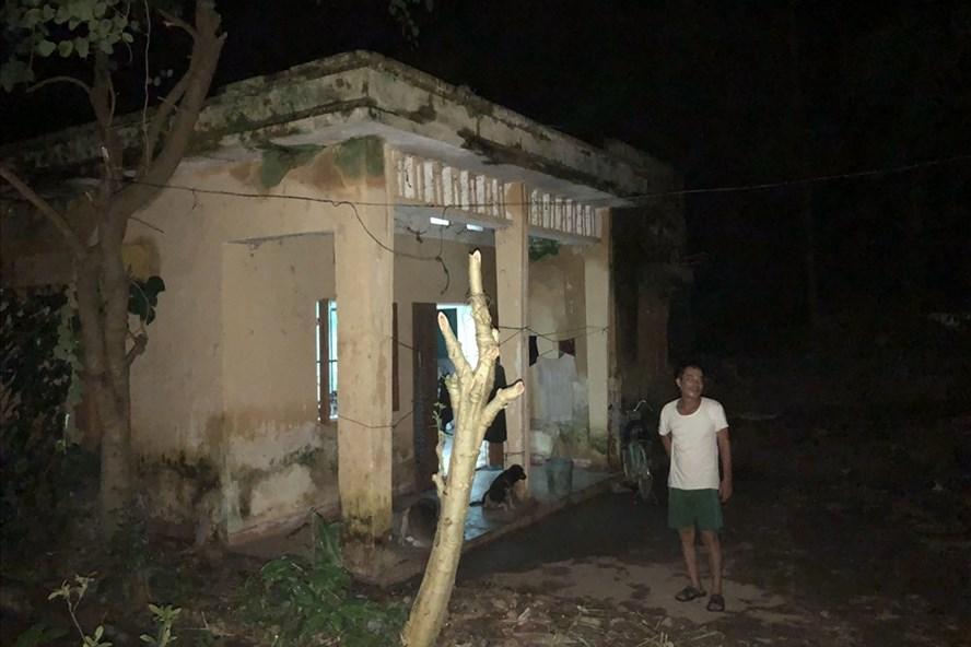 Ngôi nhà ông Hà được cho mượn để ở tạm Ảnh: Thành Trung