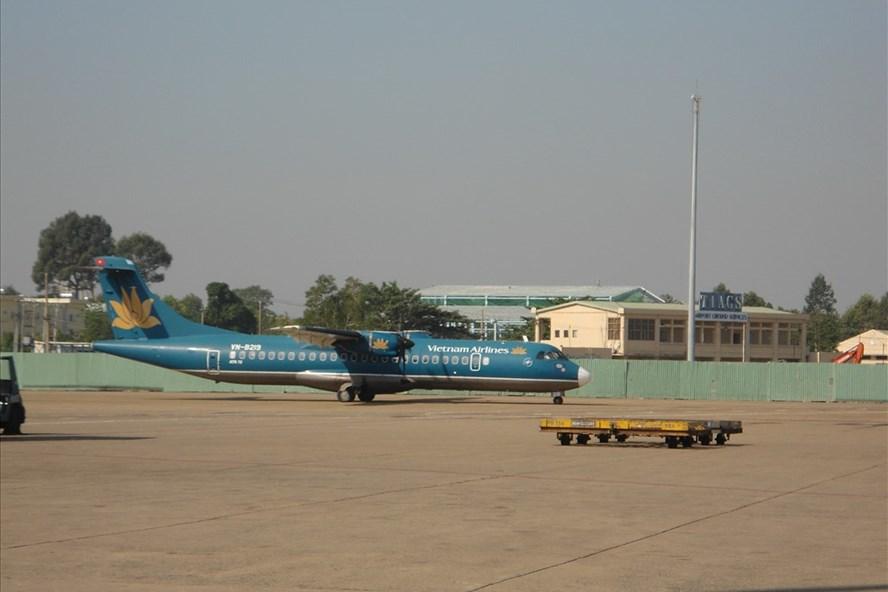 Máy bây đậu ở sân bay Tân Sơn Nhất.  Ảnh: M.Q
