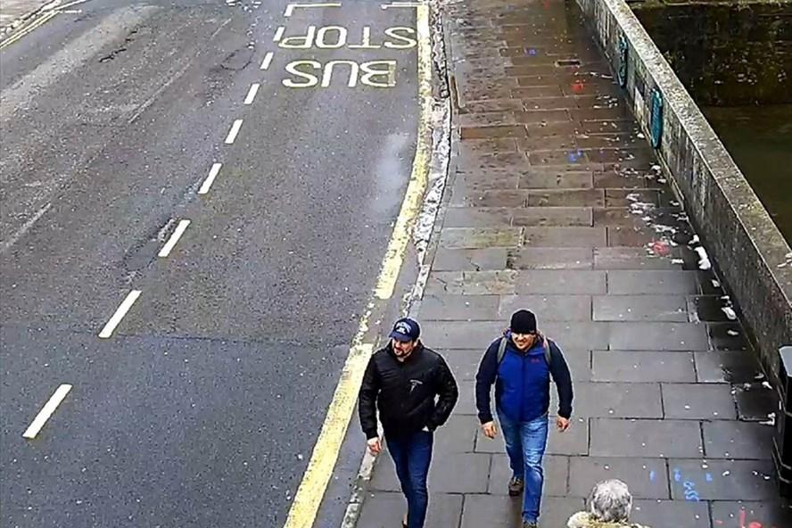 Hai nghi can trong vụ đầu độc Skripal - Ảnh: Reuters