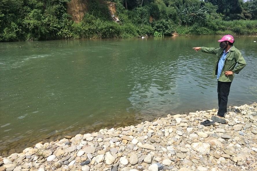 Khúc sông em Trần Văn T. bị sảy chân rơi xuống dẫn đến tử vong