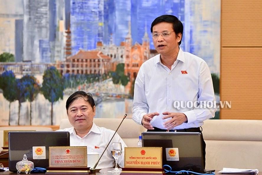 Tổng Thư ký Quốc hội, Chủ nhiệm Văn phòng Quốc hội Nguyễn Hạnh Phúc (Ảnh: QH)