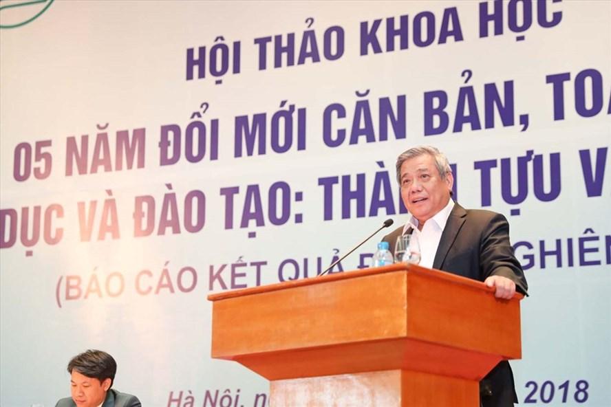 GS-TSKH Vũ Minh Giang cho rằng sau 5 năm triển khai, Nghị quyết 29 đã đưa ra sự chuyển biến mạnh mẽ về giáo dục và đào tạo. Ảnh: PV
