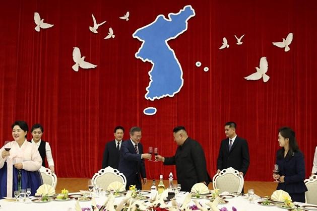 Nhà lãnh đạo Kim Jong-un mở tiệc chiêu đãi Tổng thống Hàn Quốc Moon Jae-in. Ảnh: Sputnik