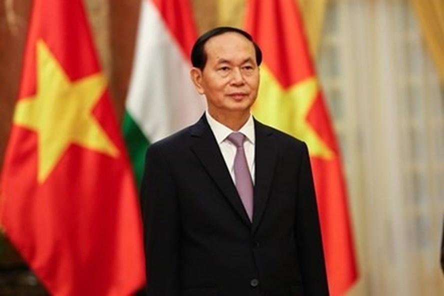 Chủ tịch Nước Trần Đại Quang. Ảnh: Sơn Tùng.