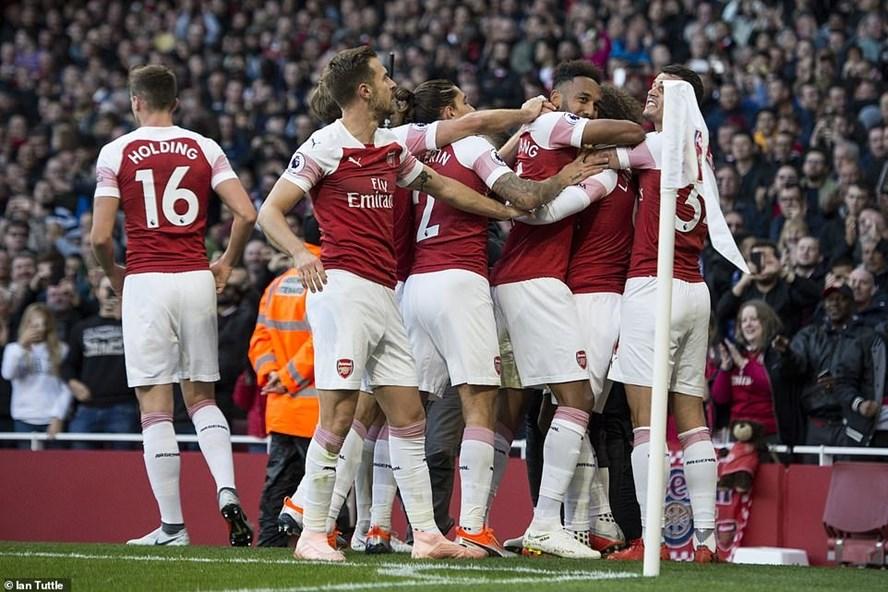 Arsenal giành trọn 3 điểm trong trận đấu muộn vòng 6 Premier League. Ảnh: Daily Mail