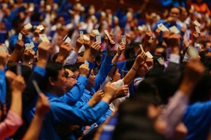 161 đồng chí được tín nhiệm bầu vào Ban Chấp hành Tổng LĐLĐVN khóa XII
