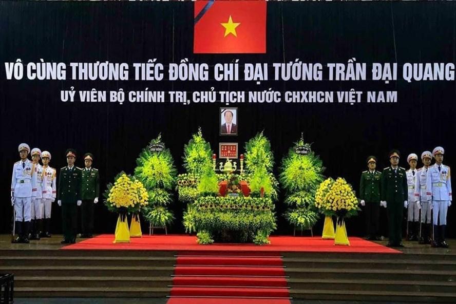 Vô cùng thương tiếc đồng chí Đại tướng Trần Đại Quang, Ủy viên Bộ Chính trị, Chủ tịch nước Cộng hòa xã hội chủ nghĩa Việt Nam. Ảnh: VGP/Nhật Bắc