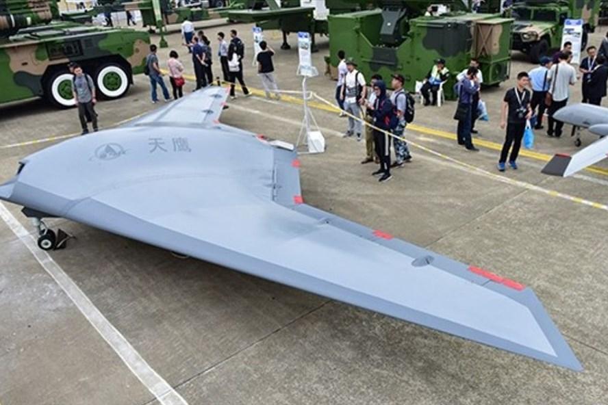 Máy bay không người lái Sky Hawk từng được trưng bày tại triển lãm hàng không Trung Quốc năm 2018. Ảnh: SCMP.
