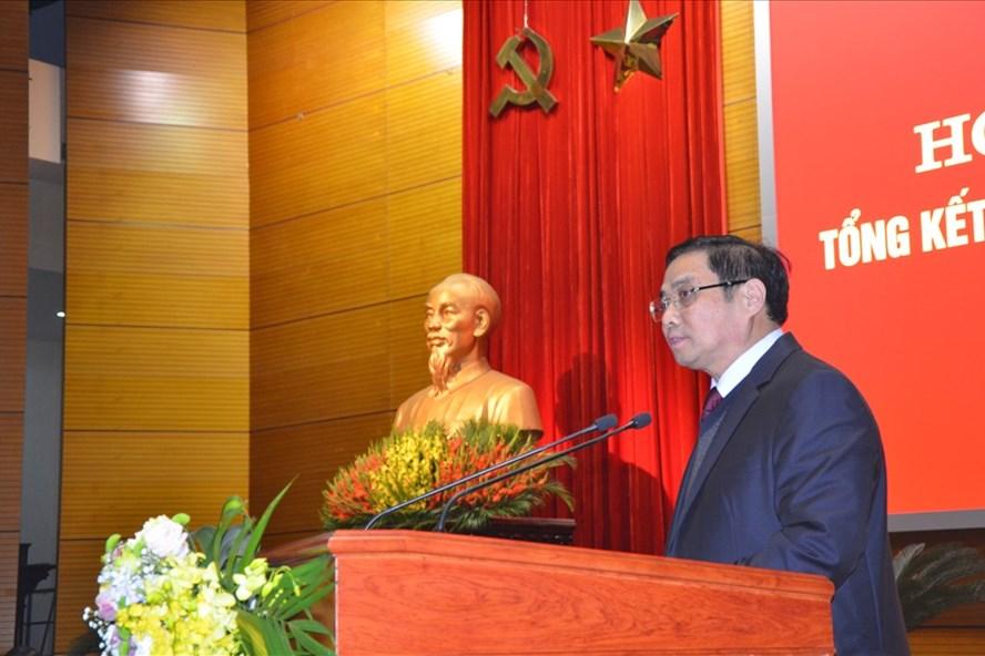 Ông Phạm Minh Chính - Trưởng Ban Tổ chức TƯ phát biểu tại hội nghị. Ảnh: HN