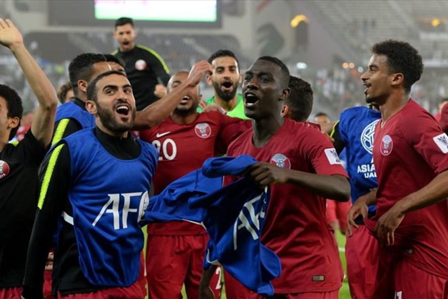 Đội tuyển Qatar đang được đánh giá nhỉnh hơn Iraq. Ảnh AFC