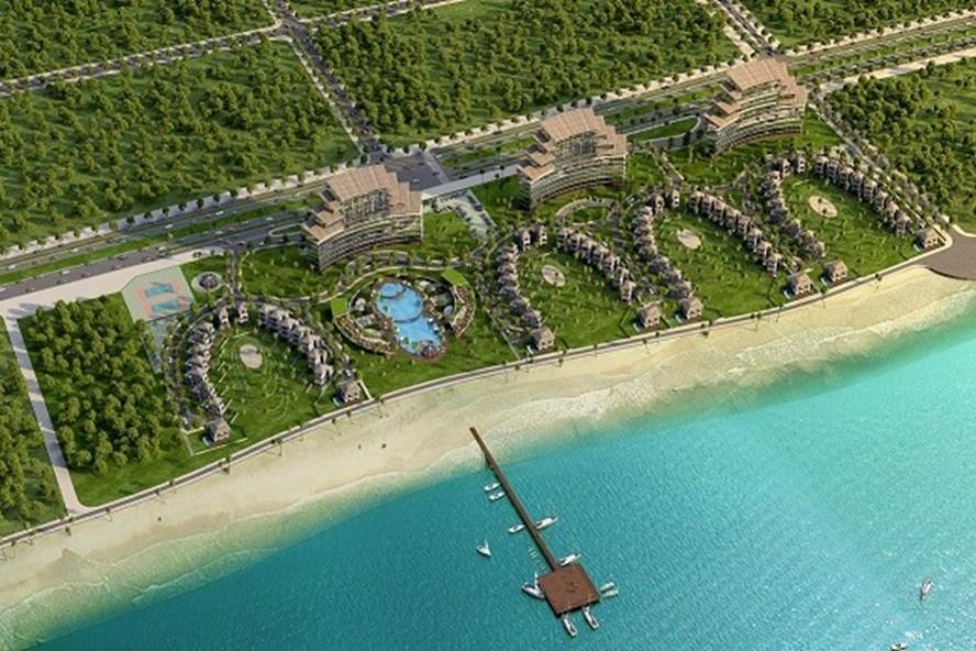 Phối cảnh tổng thể Golden City Resort ở Quảng Bình