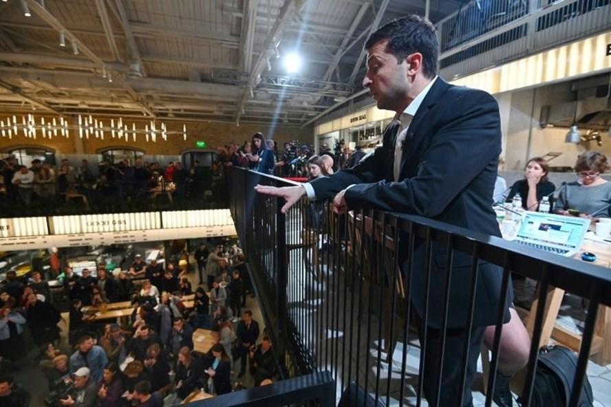 Tổng thống Ukraina Zelensky. Ảnh: AFP.
