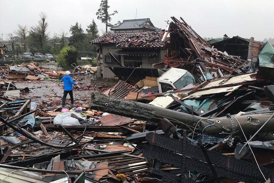Thiệt hại do bão Hagibis ở tỉnh Chiba, Nhật Bản ngày 12.10.2019. Ảnh: Getty Images