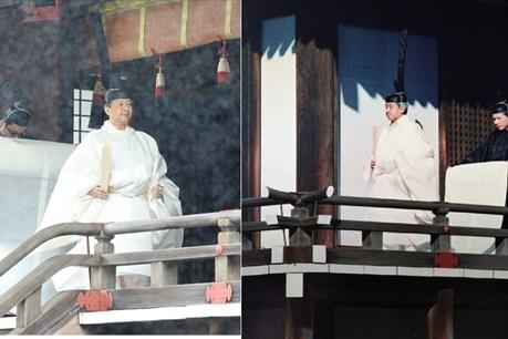 Chùm ảnh: Lễ đăng quang trọng thể từ 3 thập kỷ trước của Nhật hoàng