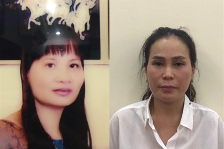 Hai bị can Nguyễn Thị Thu Thủy (trái) và Lê Thị Thanh Thúy. Ảnh: BCA