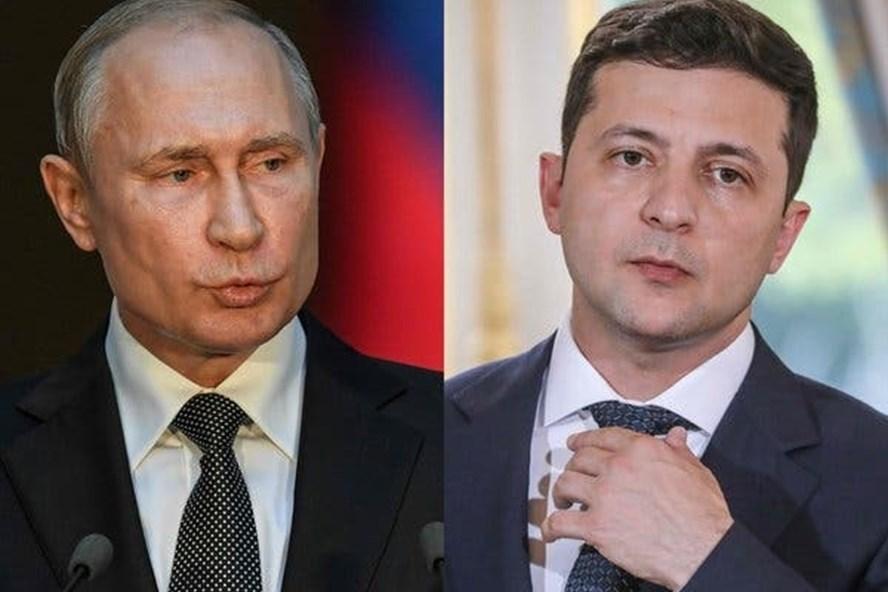 Tổng thống Putin và Zelensky sẽ có cuộc gặp tại Paris vào ngày 9.12 tới. Ảnh: NYT
