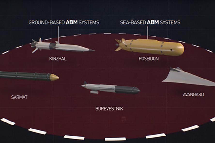 Đồ họa tên lửa hành trình sử dụng động cơ hạt nhân Burevestnik. Ảnh: RT