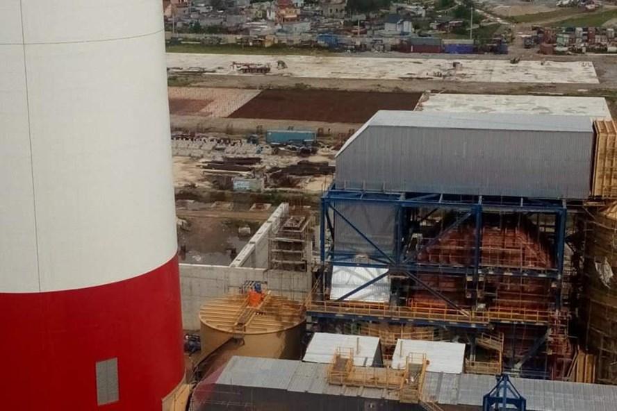 Một góc Dự án Nhà máy Nhiệt điện Thái Bình 2 nhìn từ trên cao. Ảnh: Đ.T