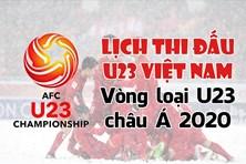 Infographic: Lịch thi đấu U23 Việt Nam tại vòng loại U23 Châu Á 2020