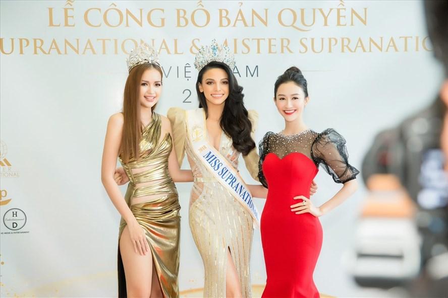 Ngọc Châu, Hoa hậu Siêu quốc gia 2018 và Hà Thu.